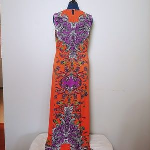 NY Collection Dresses - 👗 Beaded Long Print Dress